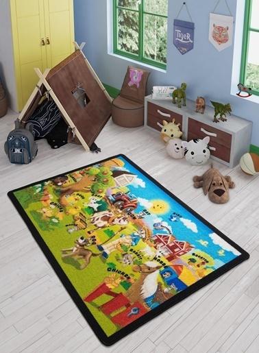 Confetti Ali Baba Çocuk Odası Anaokulu Eğitici Hayvan Oyun Halısı Renkli